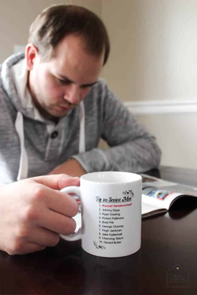 My man will LOVE this mug for Valentine's day. Perfect gift for a boyfriend or husband!