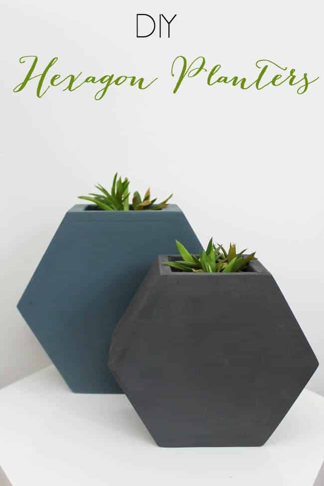 DIY hexagon planters