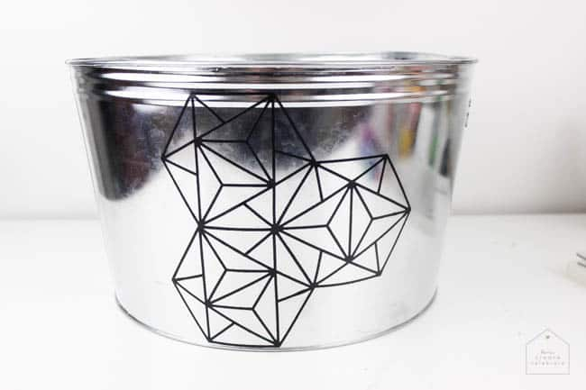 Make this modern geometric planter for any corner in your home. Love the industrial chic flair to this home decor project idea!