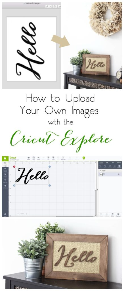 Upload your own drawings or images into the Cricut Design Space for endless project ideas and options! Here's a full tutorial to show you how easy it is :)