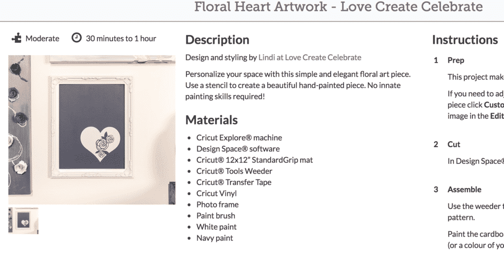 This floral heart artwork is one of my favorite cricut explore air 2 projects