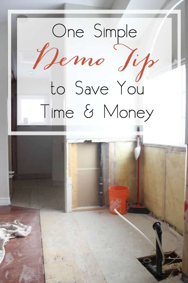 We can get so caught up in the fun and excitement of demolition! But here's one simple tip that will save you time and money in the long run! Don't ignore this!