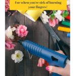 "woman using a glue gun for crafts with text reading ""alternatives to the glue gun"""