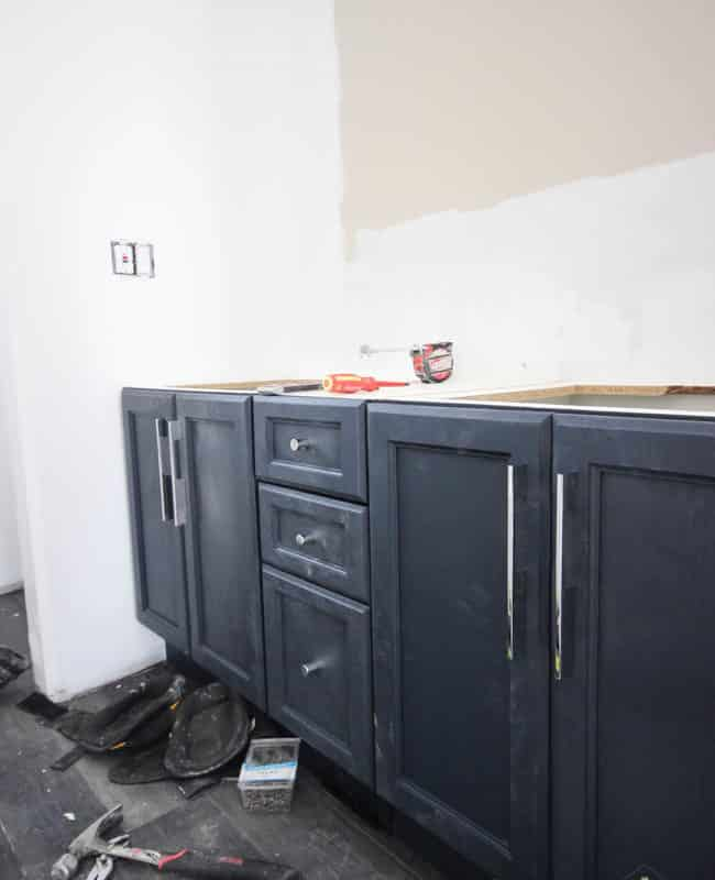 Beautiful painted oak cabinets - follow the links for the FULL renovation reveal!