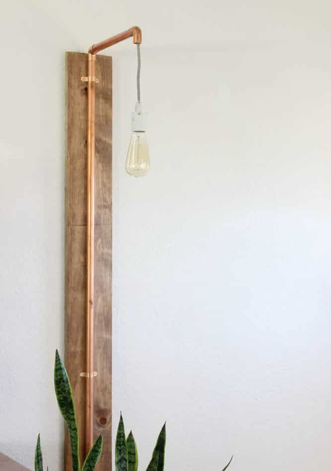 Wall Light Fixture Diy : 12 Amazing DIY Industrial Chic Light Fixtures - Love Create Celebrate
