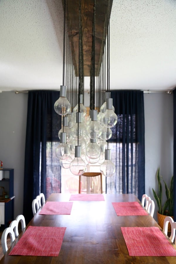 amazing chic industrial light fixtures. Multi Bulb Dining Room Chandelier by Love  Renovations Plumbing Pipe Light Fixture 12 Amazing DIY Industrial Chic Fixtures Create Celebrate