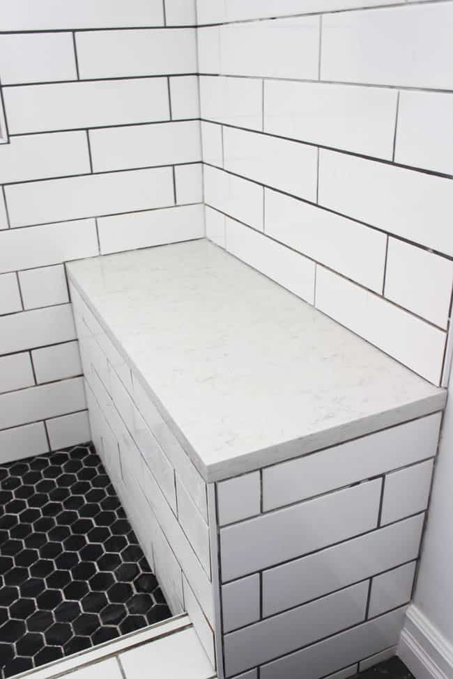 What Material Should You Use for a Shower Bench - Love Create Celebrate