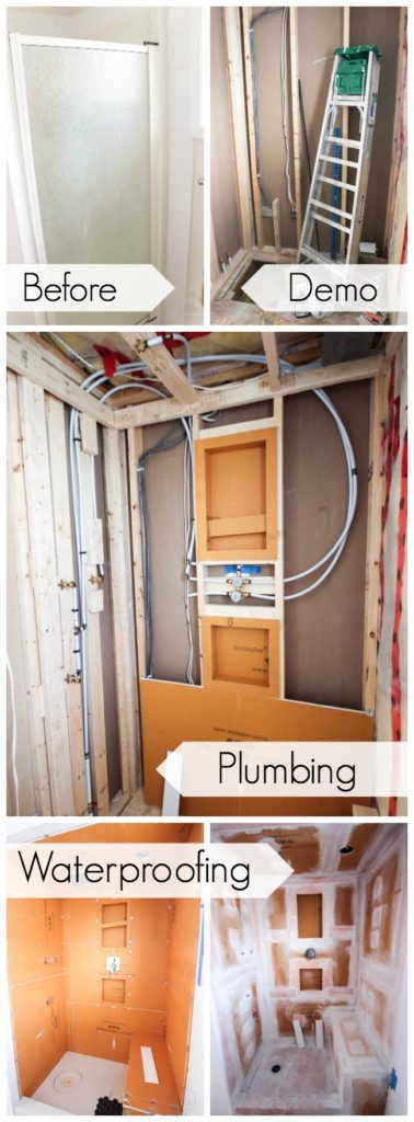 Tiling your own shower can be a BIG job! Here's a step-by-step of the process you need to go through!
