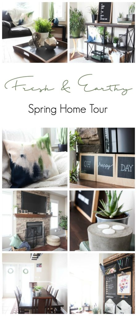 A beautiful fresh and earthy spring home tour! LOVE the green and blue palette! A mix of rustic, industrial, and modern style :)