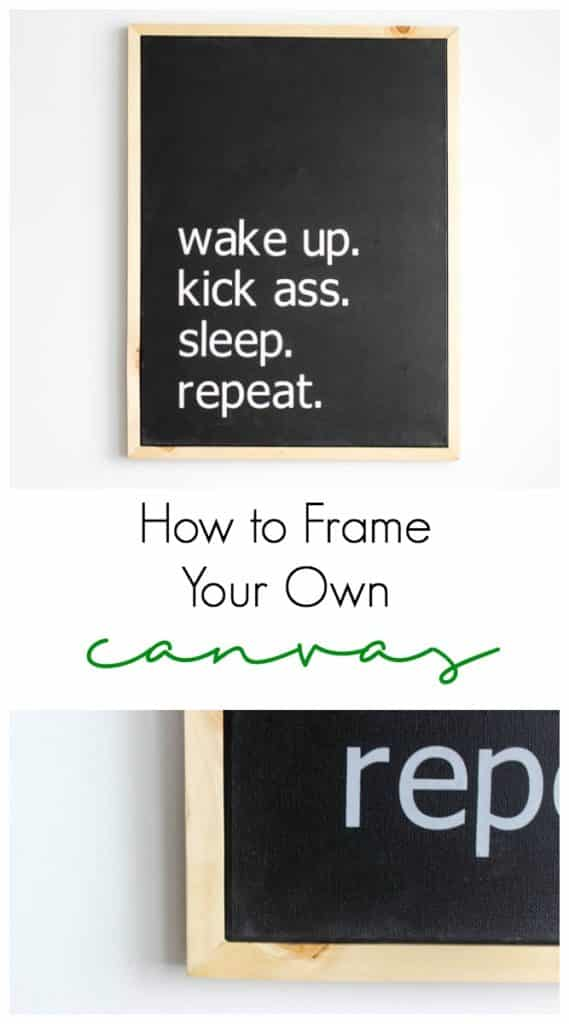 How to frame your own canvas