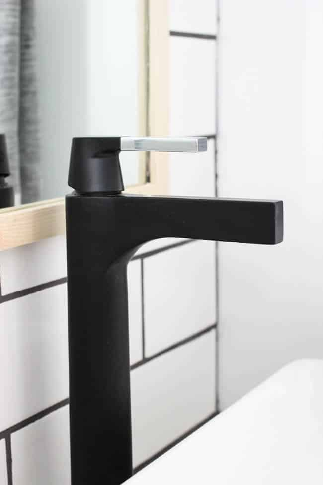 The matte black faucets are such a beautiful stand-out feature.
