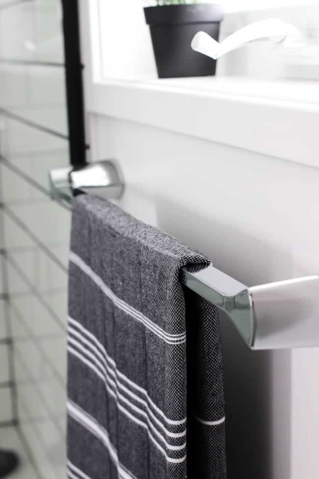 The towel bars and robe hooks could not be better suited for the bathroom. I never realized the impact that small pieces like that can have in a space.