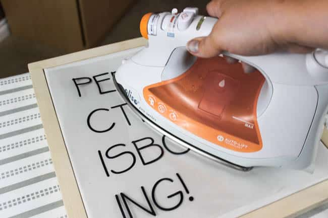 Ironing the letters makes this project fast and easy!