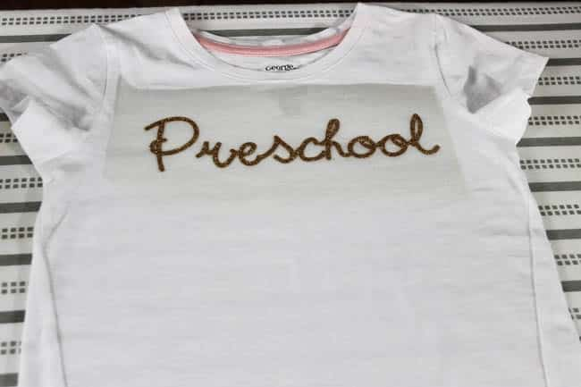 Preschool print on the t-shirt
