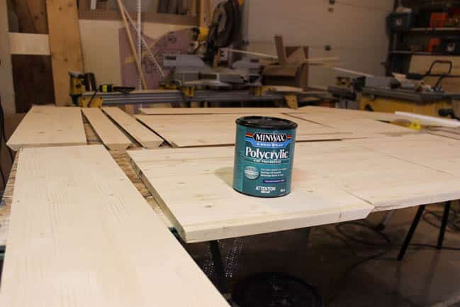 Polycrylic is great for protecting wood after staining.