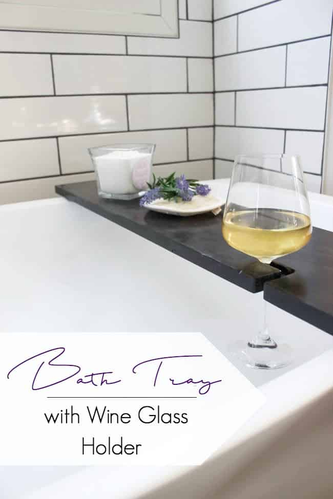 Build Your Own Bath Table With Wine Glass Holders Love