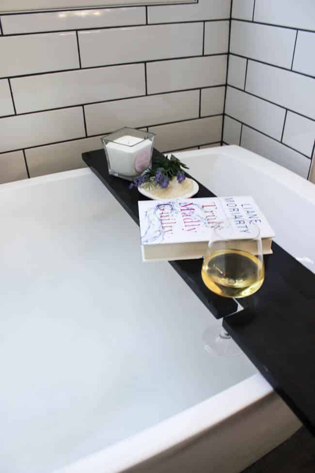 Build Your Own Bath Table [with Wine Glass Holders!] - Love Create ...