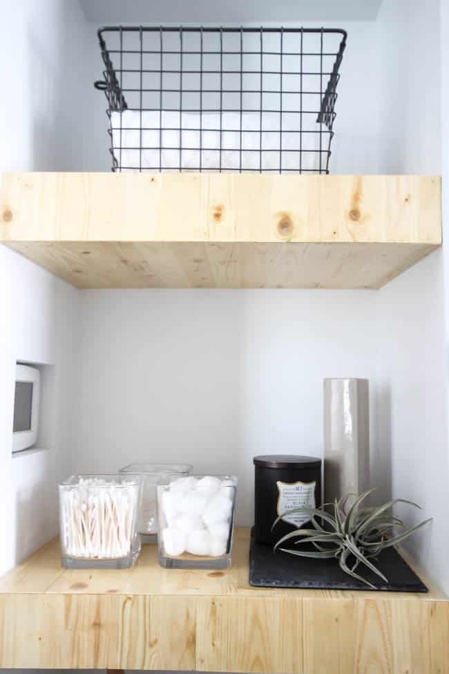 Great tutorial for DIY shelving in the bedroom, living room, or any room!