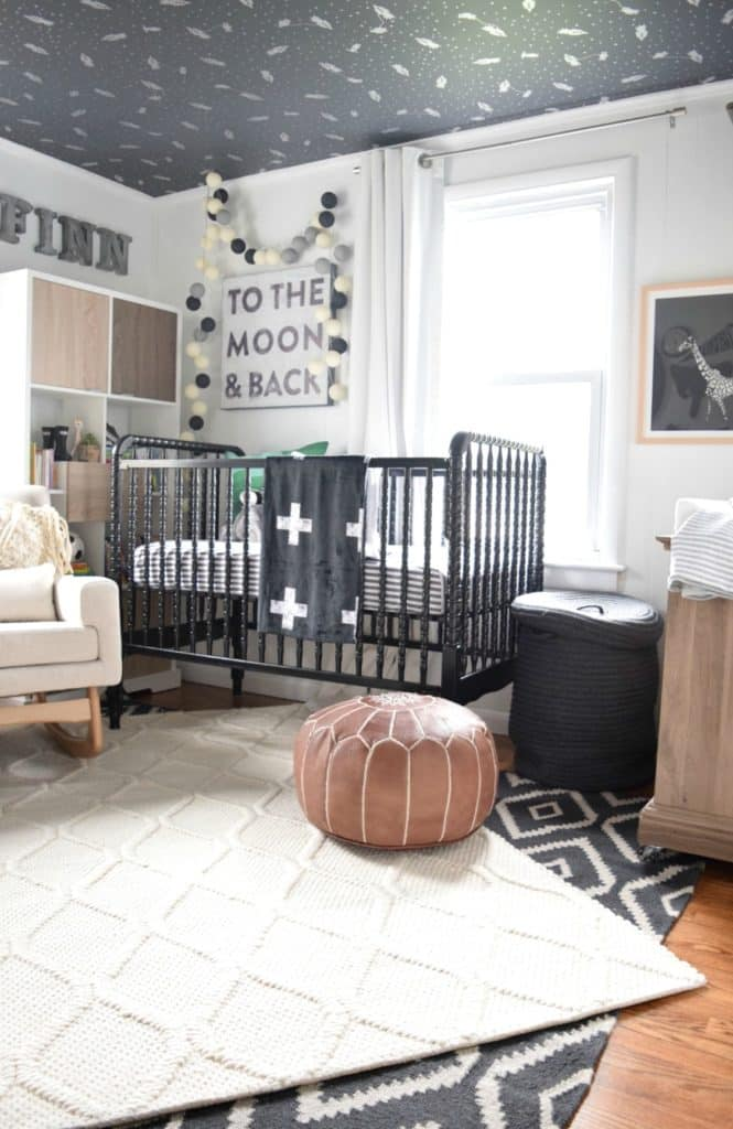 Beautifully layered modern modern rugs for any room in the home! LOVE this beautiful design trend and now you can incorporate it into your home with beautifully layered sisal, jute, cowhide, and modern rugs. Love this nursery!