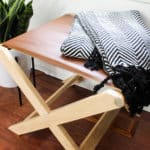 A Beautiful Modern Leather Bench