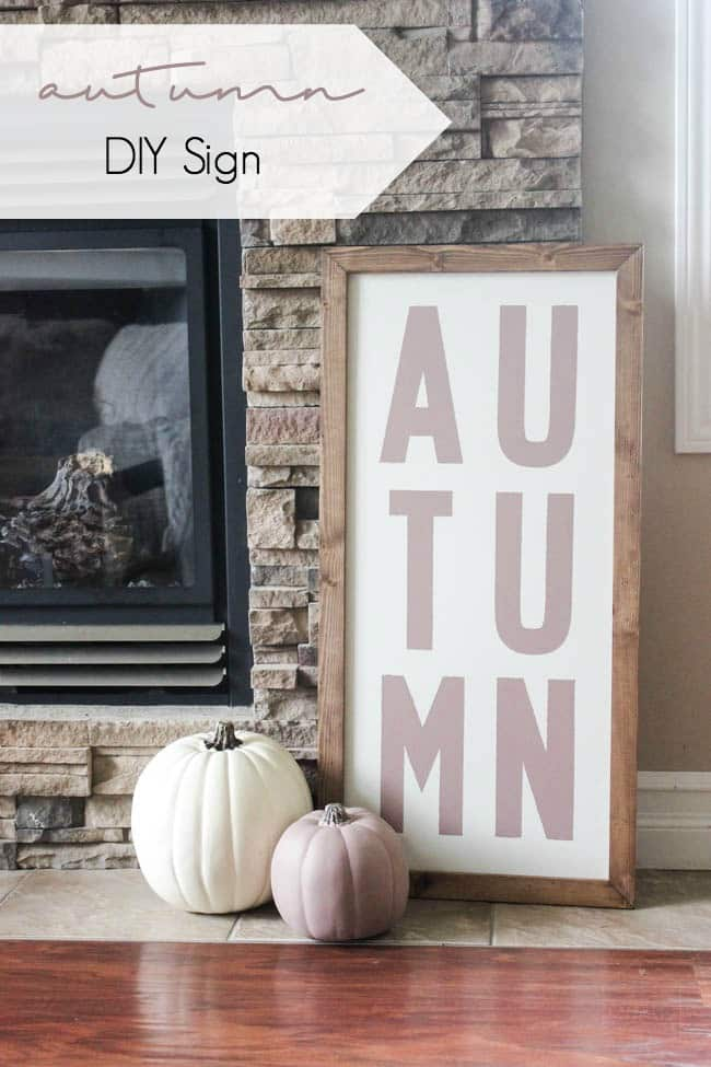 DIY Autumn Wood Sign for the holidays