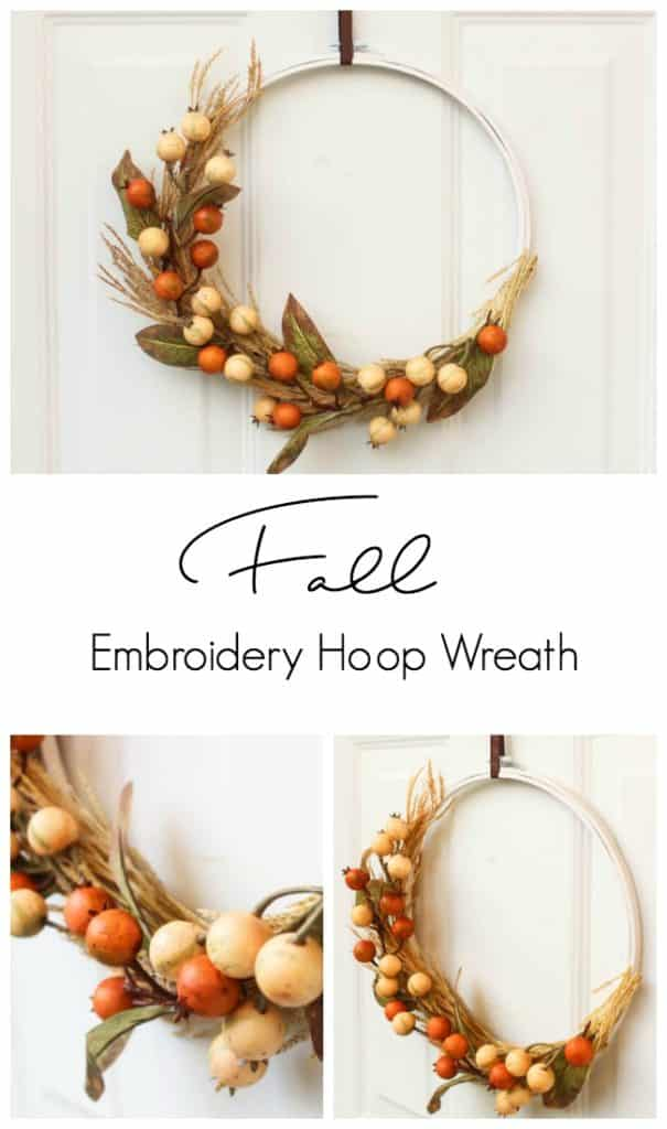 Diy Autumn Embroidery Hoop Wreath Love Create Celebrate