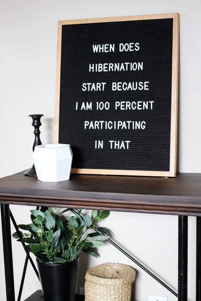 This letter board is a fun way to personalize your fall decor