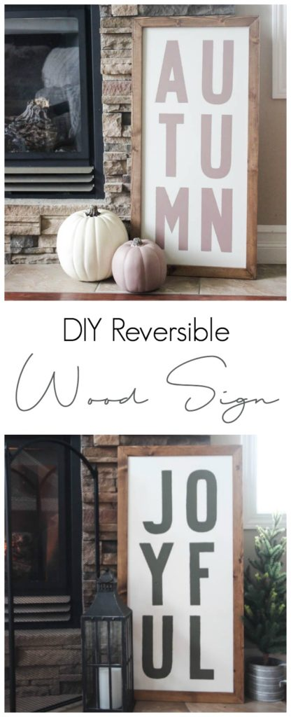 DIY Reversible Wood Sign