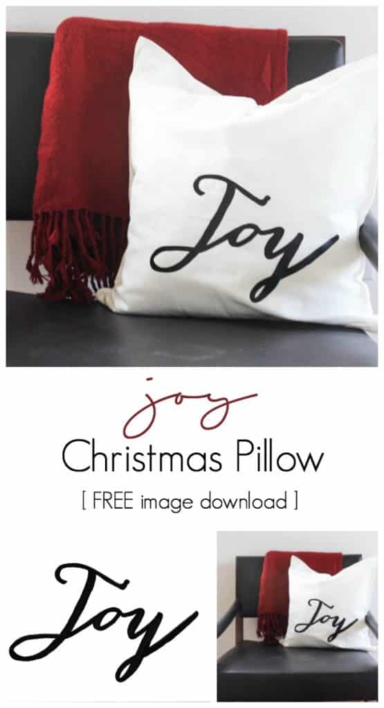 This Christmas pillow only takes 30 minutes to make