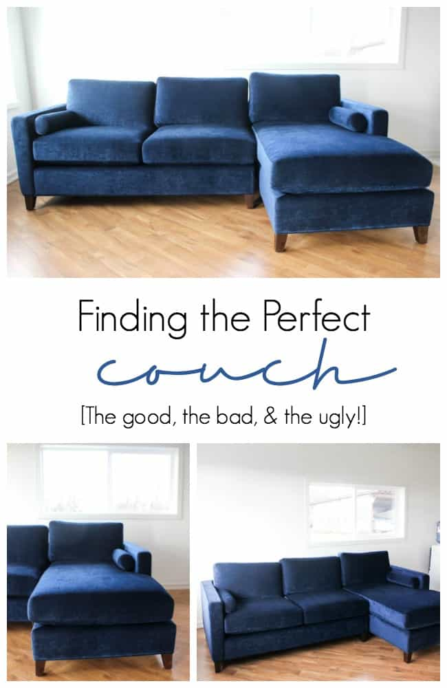 Finding the perfect couch can be really difficult, especially when you live in a Northern rural area like us! The couch is one of the most important furniture pieces in the home and having a comfortable, stylish couch is extremely important! Find out how I finally found the perfect sofa!