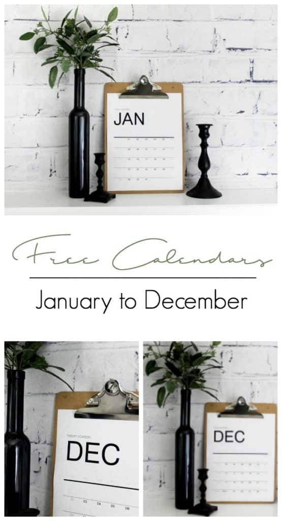 Download free modern calendars