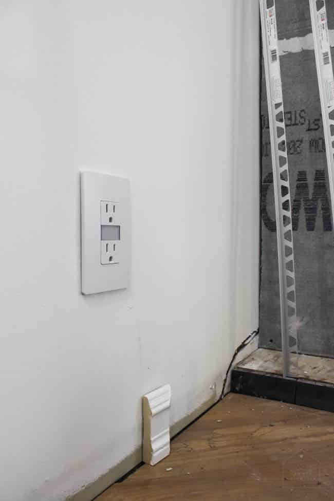 In our one room challenge we installed new electric outlet covers