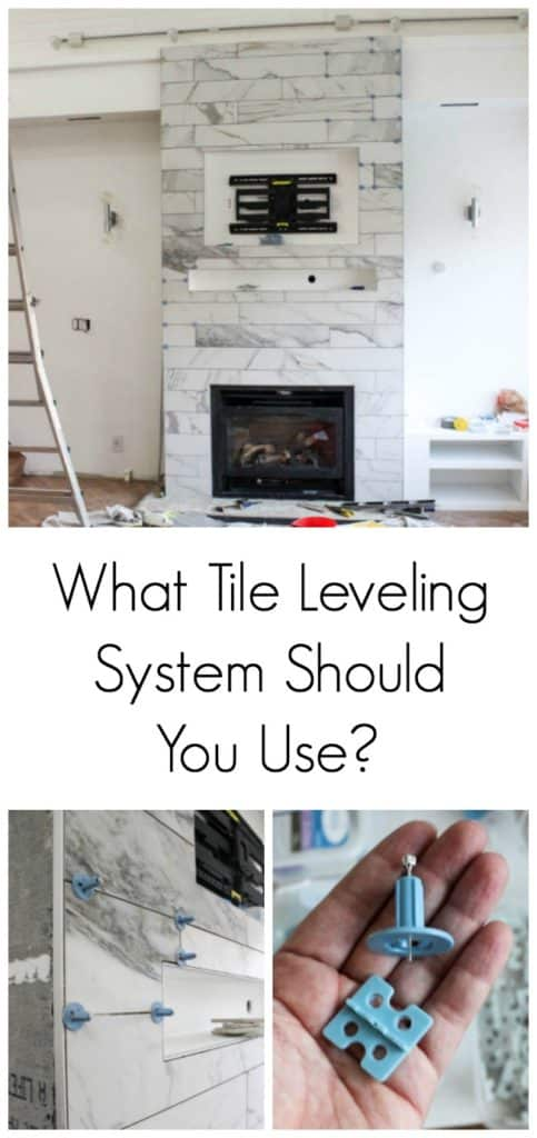 This week on week 5 of the One Room Challenge: Fireplace Tile and an ATR Tile Leveling System