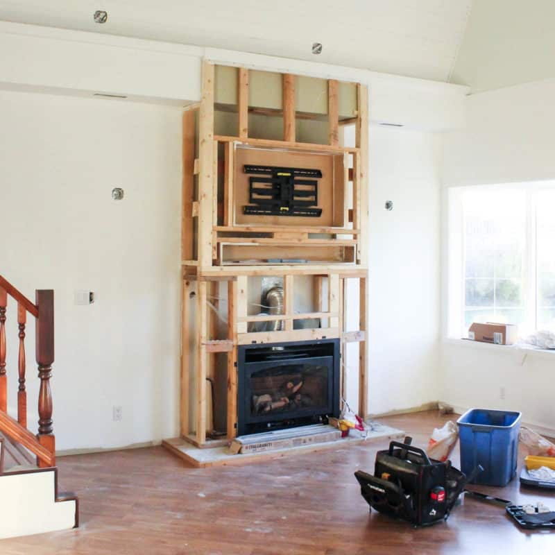 Follow along as we renovate the first room in our new barn home for the one room challenge. These living room designs, will change this traditional home to modern and new!