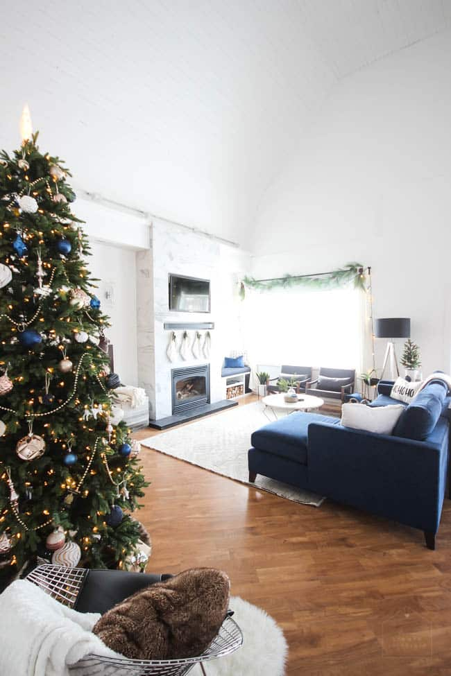 Christmas Home Tour in our New Living Room - Love Create Celebrate