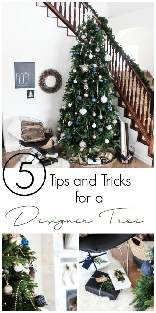 How to decorate a designer Christmas tree