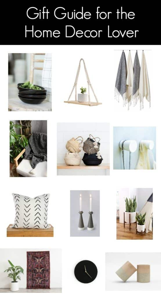 Creative gift ideas for the Home Decor Lover. Pick out some new decor pieces that you know she'll love and surprise her with beautiful home decor pieces this holiday season!