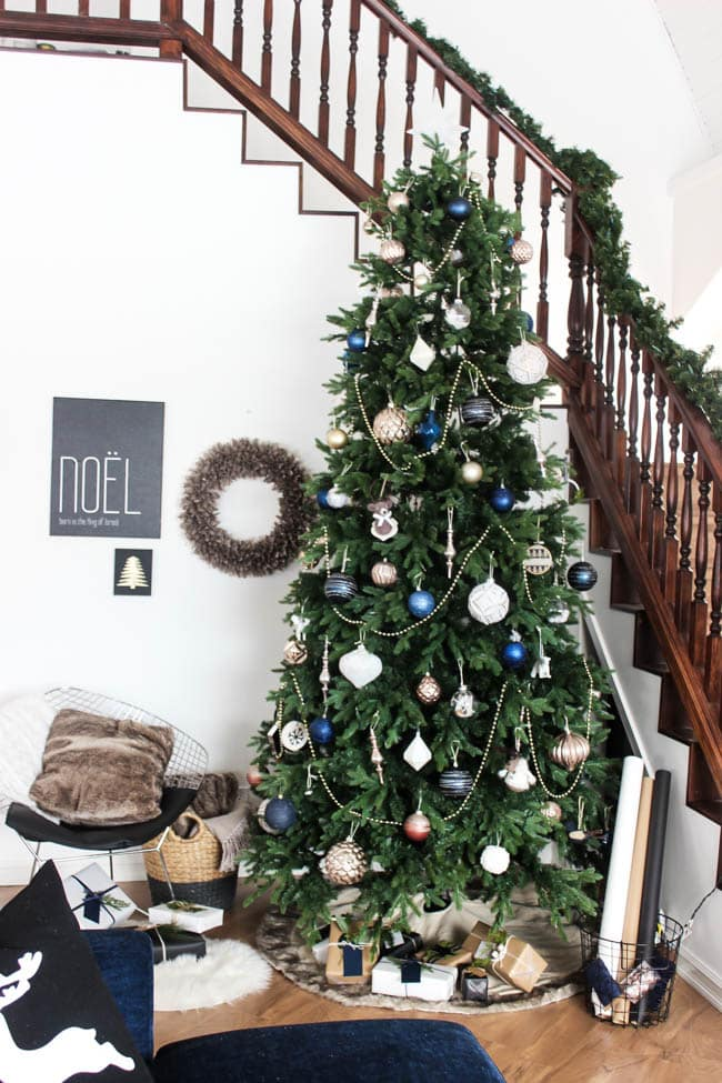 This wintery holiday tree will bring the holiday spirit to your home