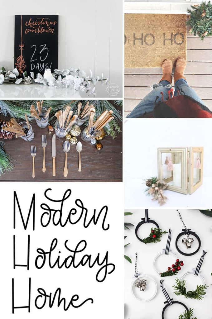 Don't forget to check out our Modern Holiday Home craft series with other wonderful bloggers!