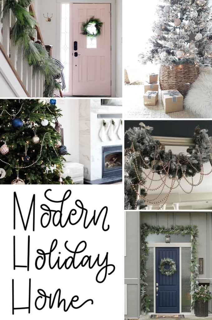 Modern Holiday Home Tips bring the holidays to your home with these seasonal design tipc
