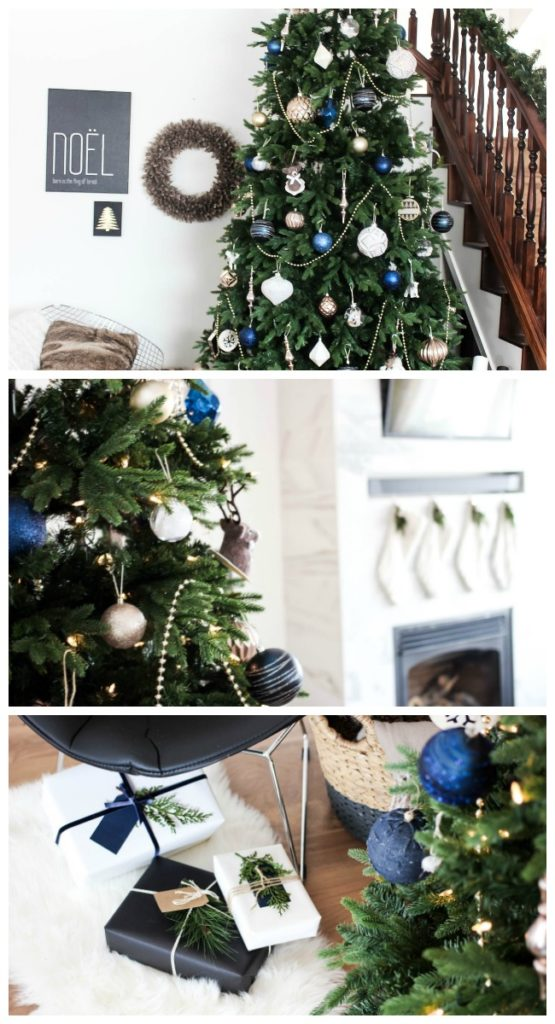This beautiful, wintery designer Christmas tree is pulled right from the pages of the best home decor magazines