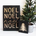 Modern Holiday Home: DIY Gold Foil Signs [+ a giveaway!]
