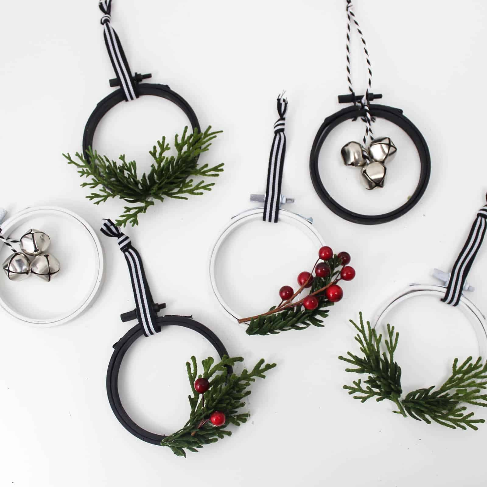 DIY Mini Wreath Ornaments