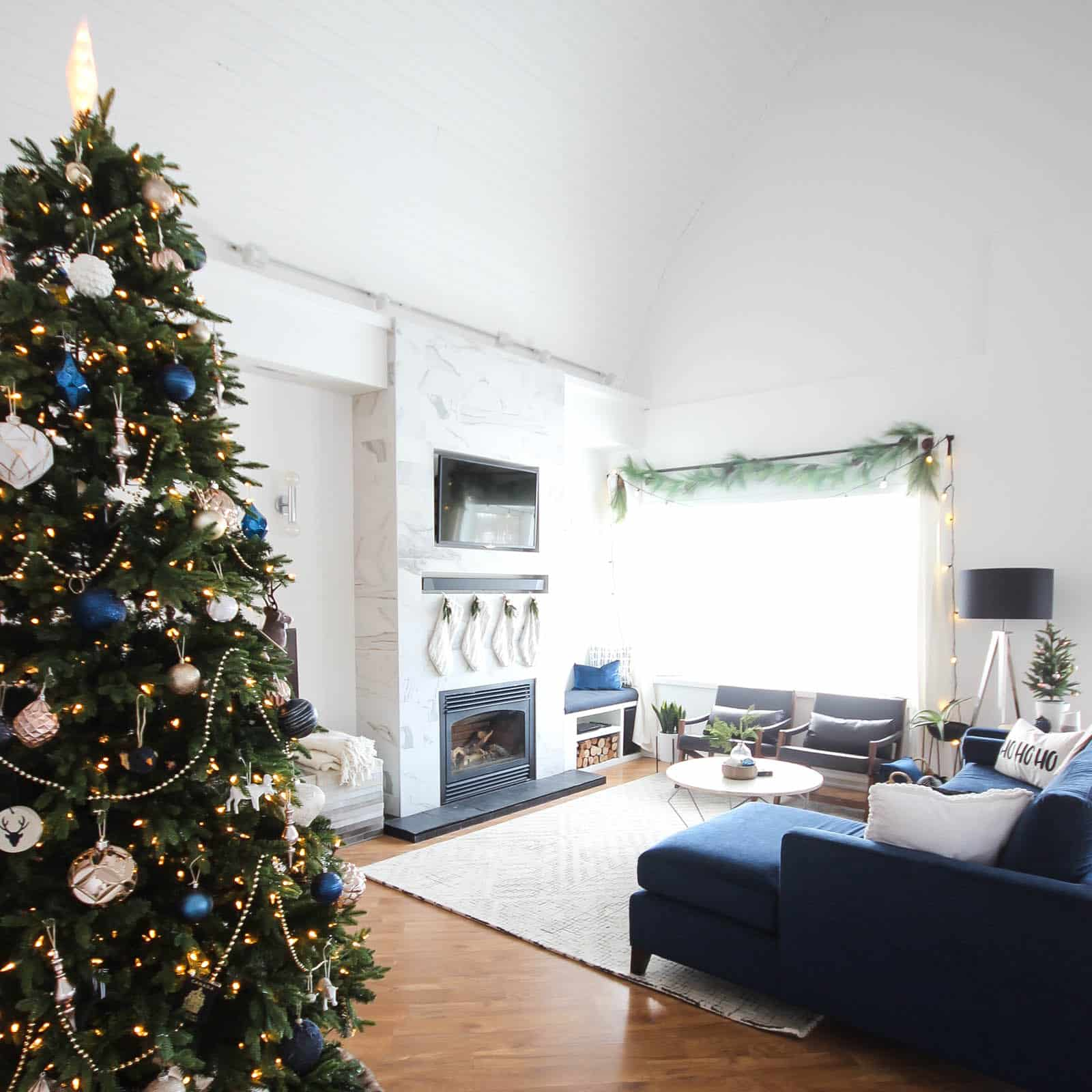 Christmas Home Tour in our New Living Room Love Create Celebrate