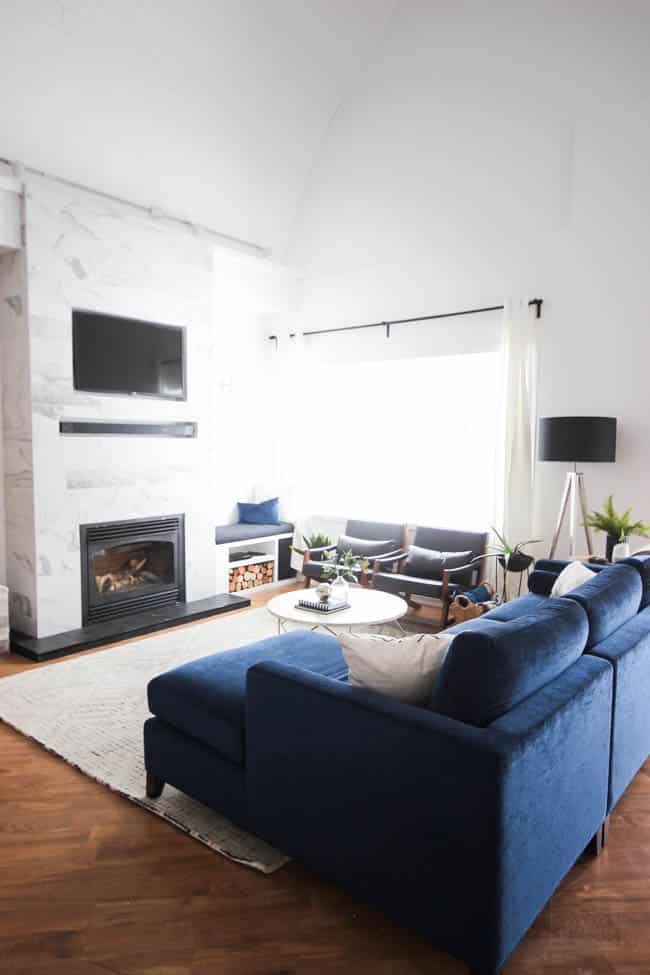 We gave our living room a high tech upgrade with all the modern technology for a fun and functional home