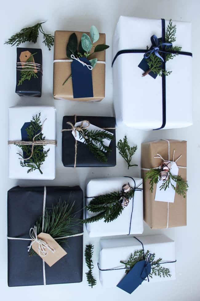 This stunning christmas gift wrap is simple, easy to make, and perfect for the season!