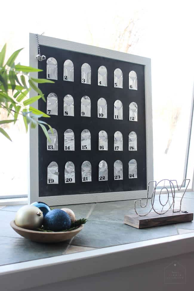 Bay window with DIY advent calendar