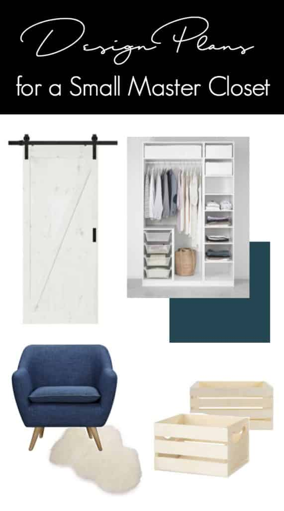 Beautiful design plans for turning a small closet into a beautiful, functional reach-in dream closet. Love the white wardrobes used for closet storage solution.