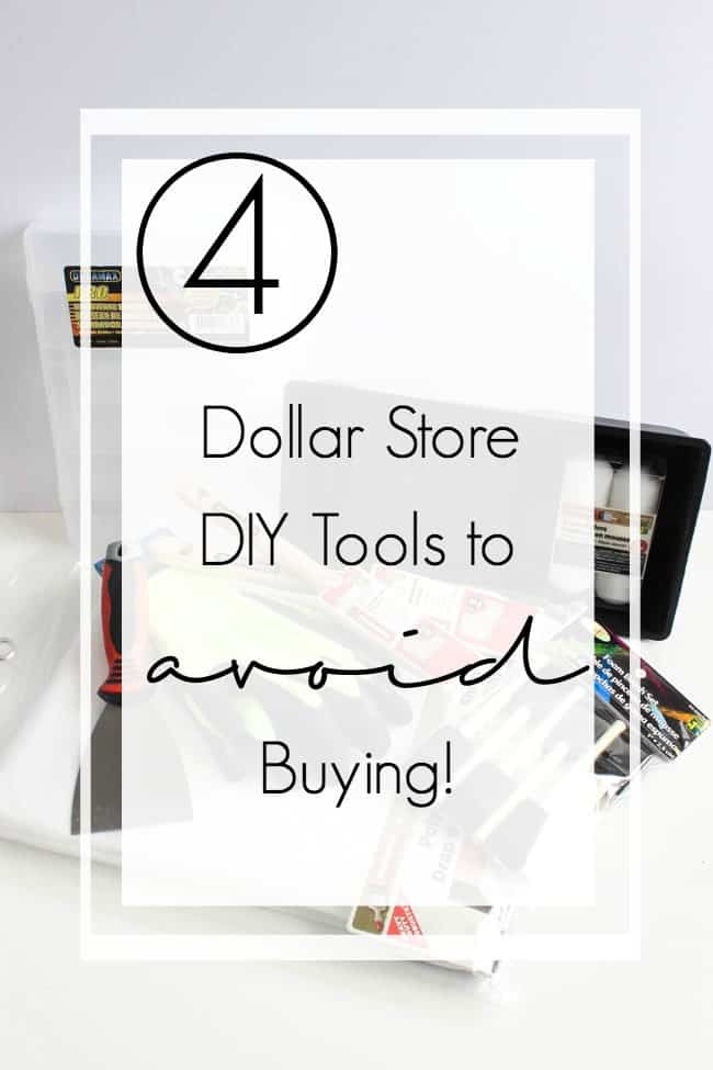 Ever wonder if you should buy a DIY tool from the Dollar Store? Here's the 8 items we would recommend buying at the Dollar Store instead of the hardware store! Plus a few items we would definitely avoid at the dollar store too!