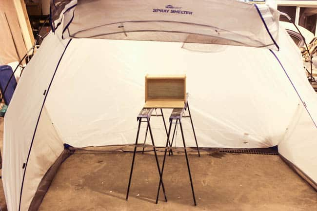 Set up a spray shelter before you paint